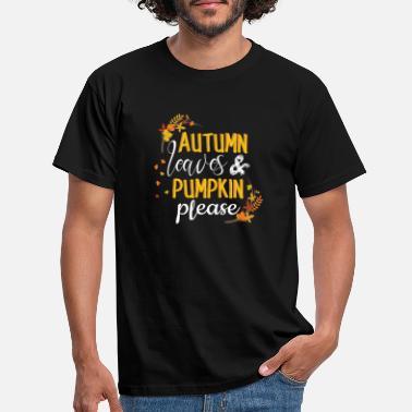 Corn Autumn Leaves And Pumpkin Please Autumn Shirt | - Men's T-Shirt