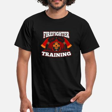Jobs Firefighter in Training Proud Fireman Hero Job USA - Men's T-Shirt