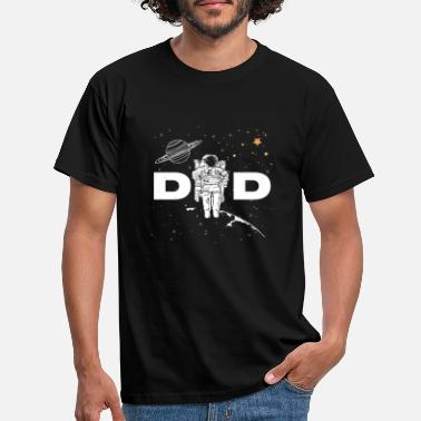 Space Shuttle Astronaut Dad in Space White - Men's T-Shirt