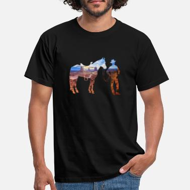 Steppe cowboy in the steppe - Men's T-Shirt