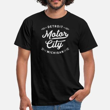 City Detroit Michigan Motor City klassische Vintage Retro - Männer T-Shirt