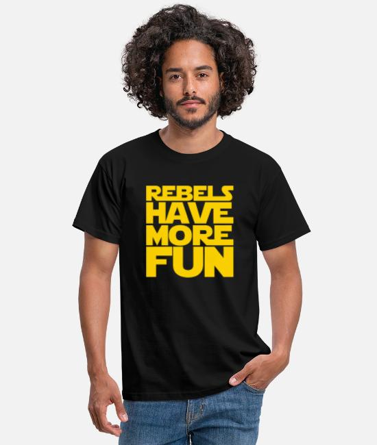 Fundraiser T-Shirts - Rebels Have More Fun - Men's T-Shirt black