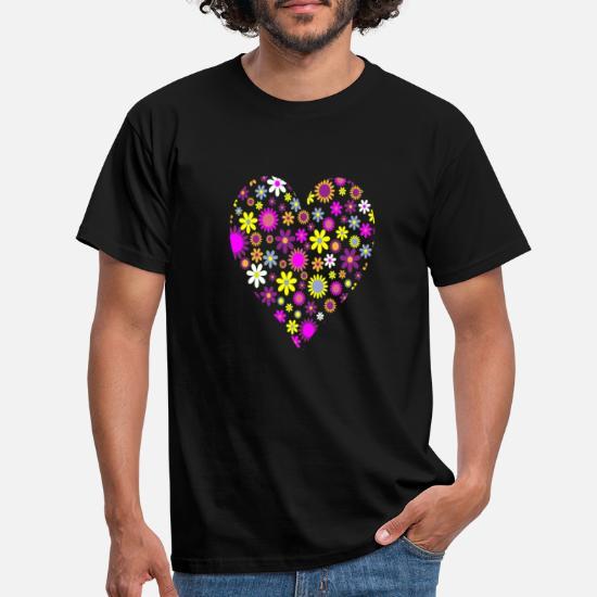 Flower Power Hippie T skjorte Bandana | Spreadshirt