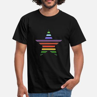 Star rainbow colors gift - Men's T-Shirt
