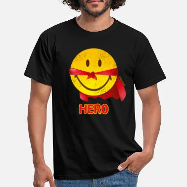 SmileyWorld Papa Hero - T-skjorte for menn