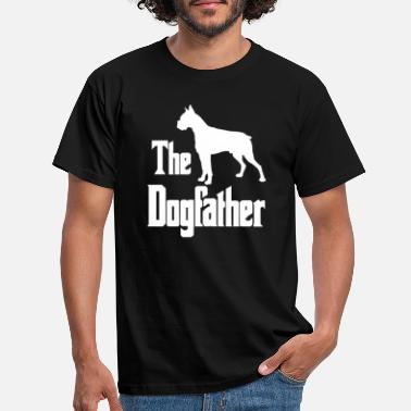 Duitse Dog The Dogfather, boxer dog, grappig cadeau - Mannen T-shirt