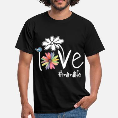 Date I love you mimi life art color daughter - Men's T-Shirt