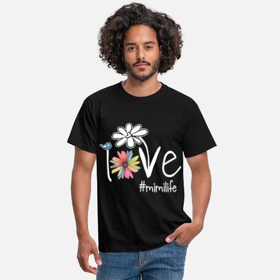 Date T-Shirts - I love you mimi life art color daughter - Men's T-Shirt black