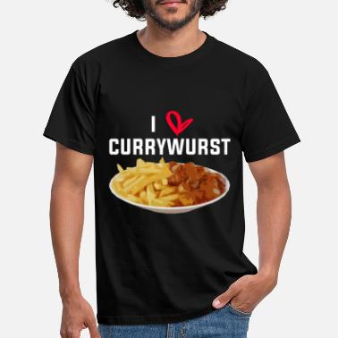 Currywurst Love Currywurst Pommes Fast Food - Männer T-Shirt