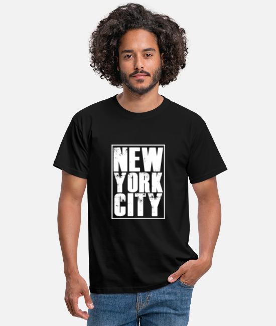 New York City T-shirts - New York City - Mannen T-shirt zwart