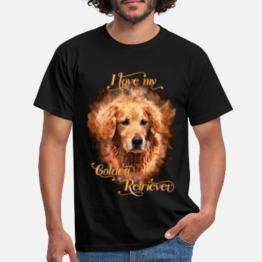 Retriever My pet dog golden retriever - Men's T-Shirt