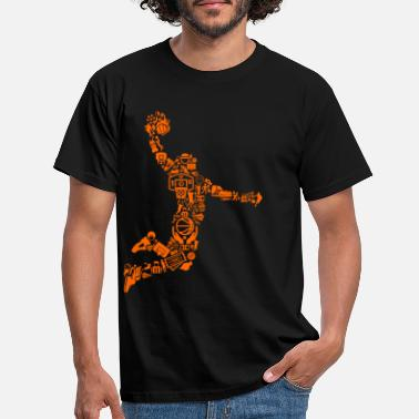 Basketball Player Basketball - Basketballer Mosaic - Player - Men's T-Shirt