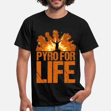 PYRO FOR LIFE New Year's Eve fireworks - Men's T-Shirt
