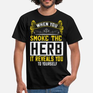 Luxembourg T-shirt When You Smoke the Herb It Reveals You ... - T-shirt Homme