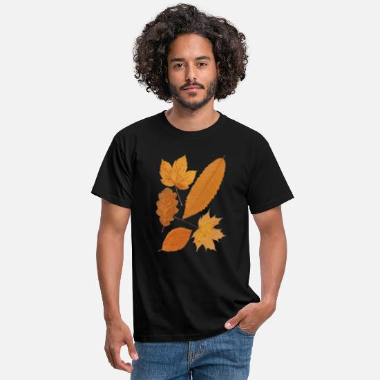 Forest T-Shirts - Autumn shirt for nature lovers - Men's T-Shirt black