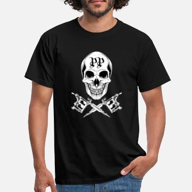 skull machines white - Men's T-Shirt