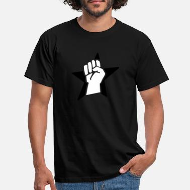Revolution revolution fist (for black shirts) - Men's T-Shirt