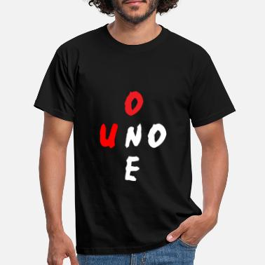 Uno Uno One - Mannen T-shirt