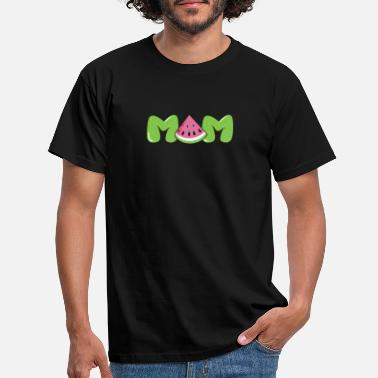 Sleeve Mom Watermelon Tropical Fruit Summer Funny Mother - Men's T-Shirt