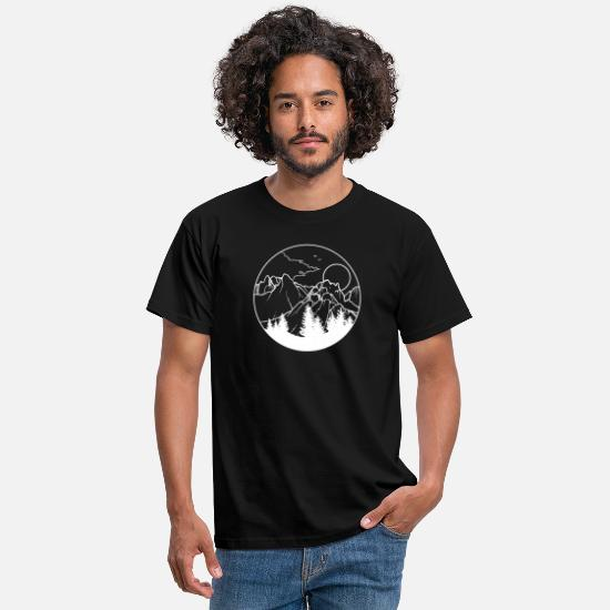 Nature Collection T-Shirts - Wanderlust White - Men's T-Shirt black