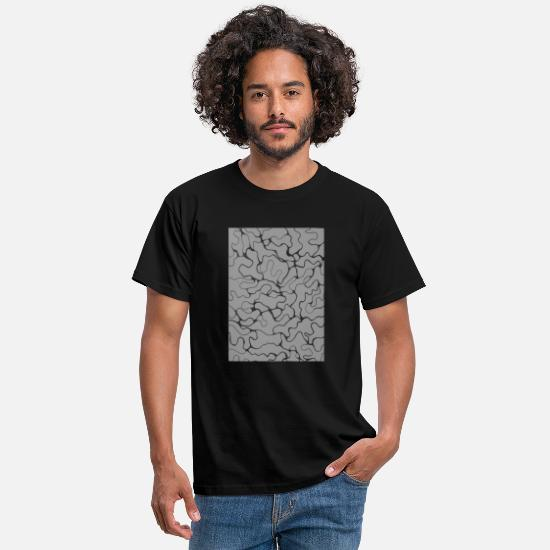 Design T-Shirts - line art graphic design - Men's T-Shirt black