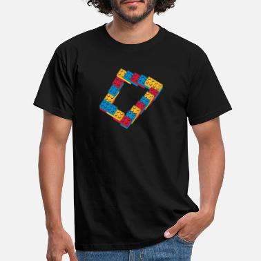 Infinity optical illusion - endless steps - Men's T-Shirt
