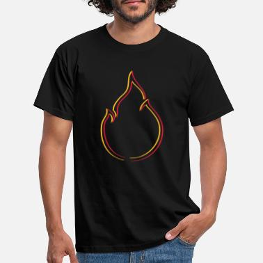 Set Fire Icon fire flame - Men's T-Shirt