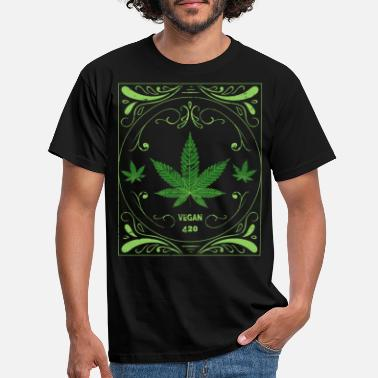 Cannabis vegan - Men's T-Shirt