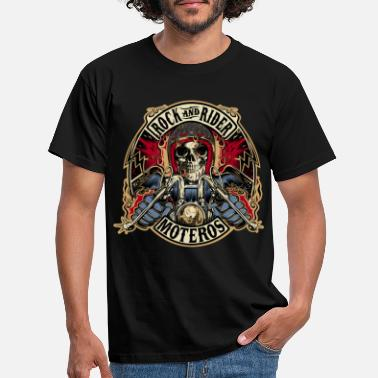 Rock Rock And Rider Moteros Skull Color - Camiseta hombre