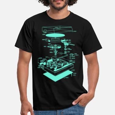 Deejay Rétro Old school Phonographe Illustration - T-shirt Homme