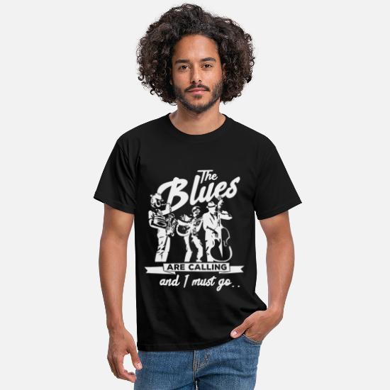 Blues Camisetas - Música blues - Camiseta hombre negro