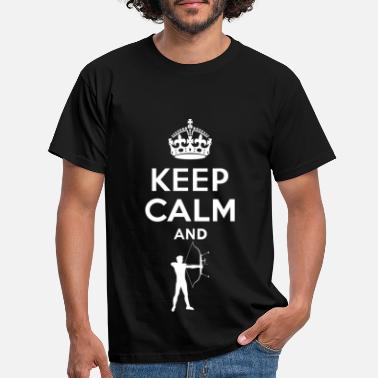 Keep Calm - Bogenschiessen - Mannen T-shirt
