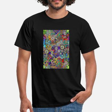 Instrument Pop-Graffiti b 5 - Männer T-Shirt