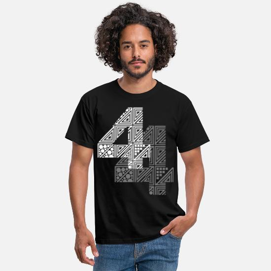 Date T-shirts - 4 number four - T-shirt Homme noir