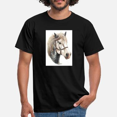Lincolnshire JACOB THE PERCHERON HORSE T SHIRT WHITE - Men's T-Shirt