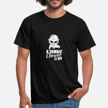 Zombie A Zombie Chewed It Off Sarcasm Amputee Cut Leg - Men's T-Shirt
