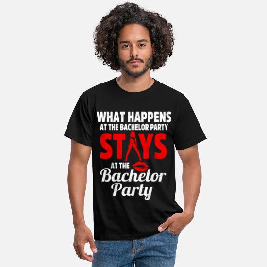 Hen T-Shirts - Bachelor party stripper funny saying - Men's T-Shirt black