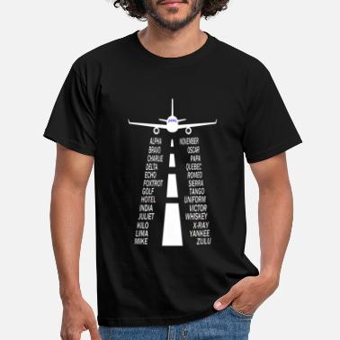 Airplane Pilot alphabet airplane - Men's T-Shirt