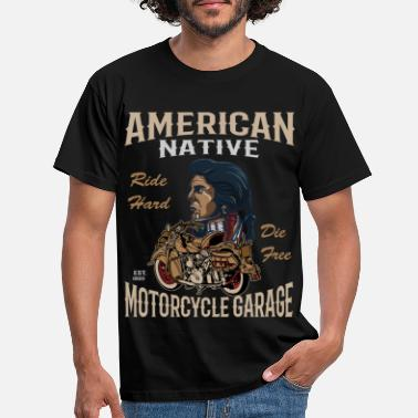 Indian Biker motorcyclist motorcycle club gift - Men's T-Shirt