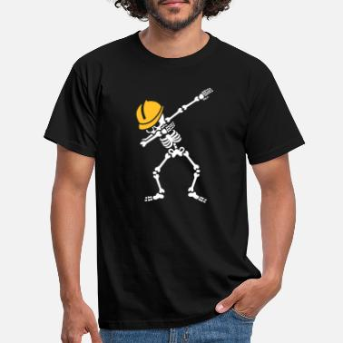 Dab Dab skeleton dabbing construction worker enginer - T-shirt mænd