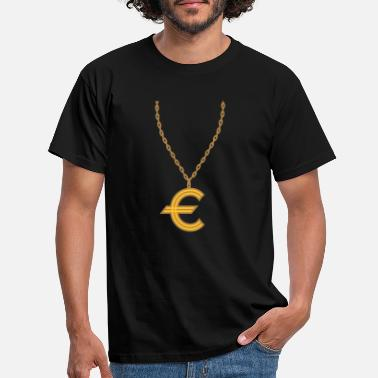 Necklace necklace jewelry gold euro europe symbol sign - Men's T-Shirt