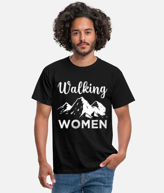 Mountains T-Shirts - Walking women - Men's T-Shirt black