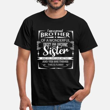 Brother Brother and sister - sibling love - Men's T-Shirt