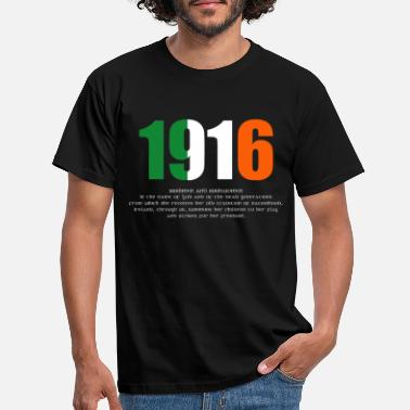 Irish 1916 Easter Rising and Proclamation Omens Long-sle - Men's T-Shirt
