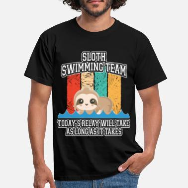 Schwinn Sloth synchronized swim tshirt bathing swimming - Men's T-Shirt