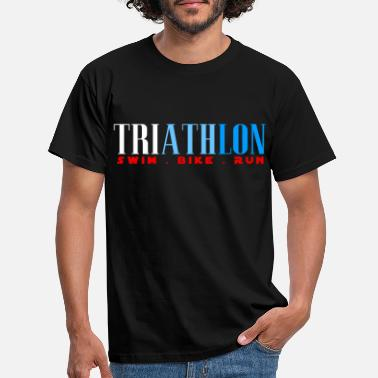 Triatlet TRIATHLON - SWIN BIKE RUN - Triathlete - T-shirt herr