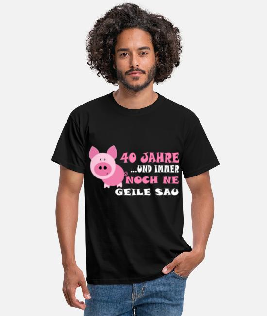 Hog T-Shirts - 40th birthday - Men's T-Shirt black