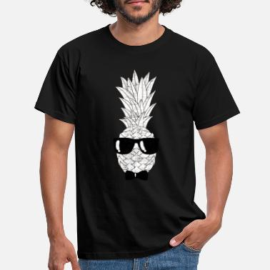 Hipster Pineapple With Sunglasses & Bow Tie Illustration - Men's T-Shirt