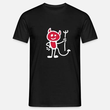 Nauty Imp Three Color Gradient Graphic Design Cool T-Shirts
