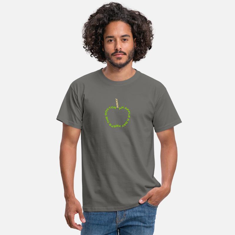 Spreuken en citaten ziekte : An apple a day keeps the doctor away mannen t shirt spreadshirt